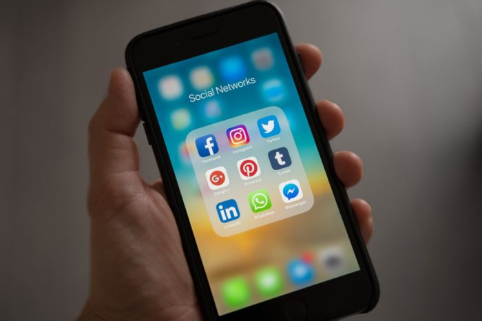social media apps on phone for employee handbook policy