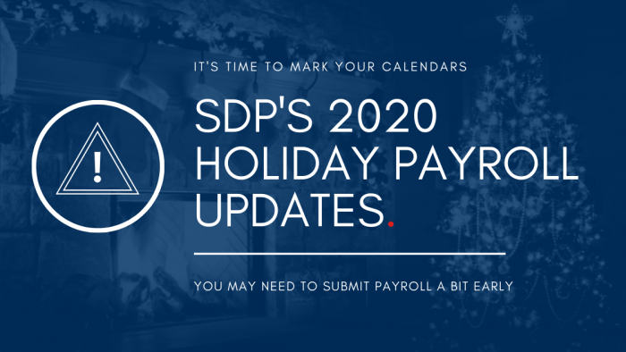 2020 Holiday Payroll Schedule banking holiday
