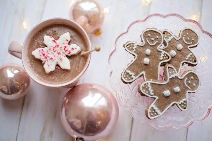 christmas holidays cocoa gingerbread ornaments