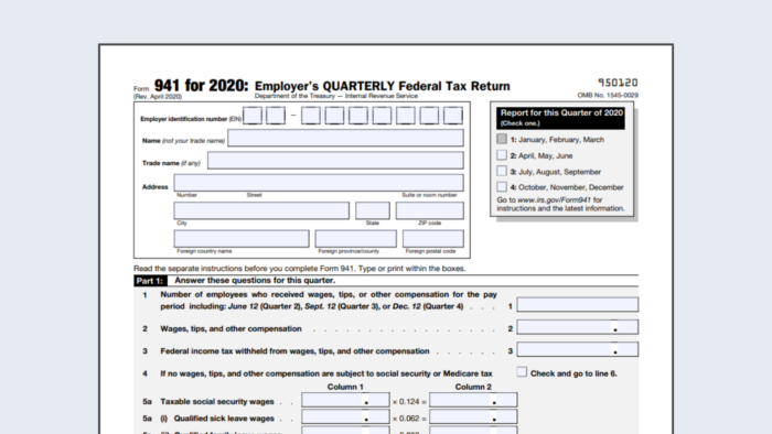 form 941 updated