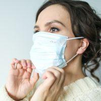 woman wearing mask ppe