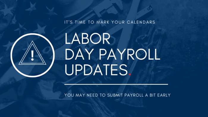 2021 labor day payroll schedule holiday
