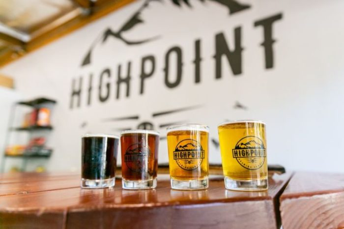 Highpoint Brewing Company Beer Flight
