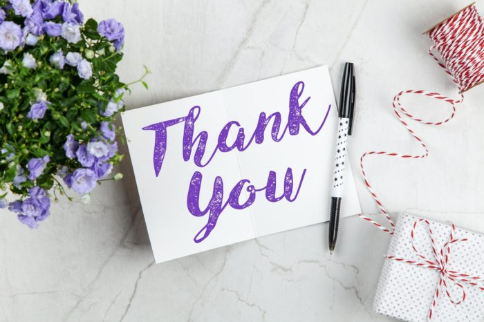 Thank you card for employee appreciation day