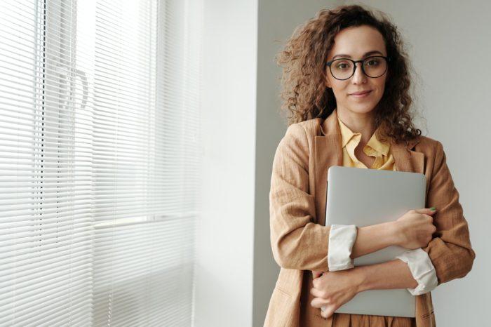 HR professional woman preparing for open enrollment