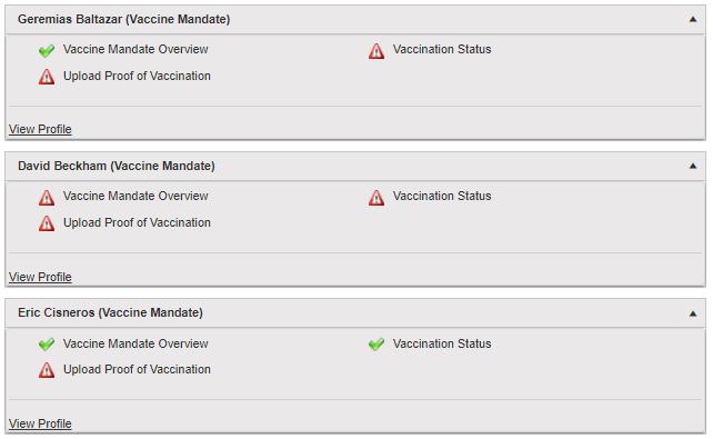 vaccine mandate reporting